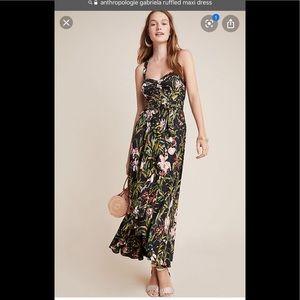 NWT Anthropologie Gabriella ruffled maxi dress